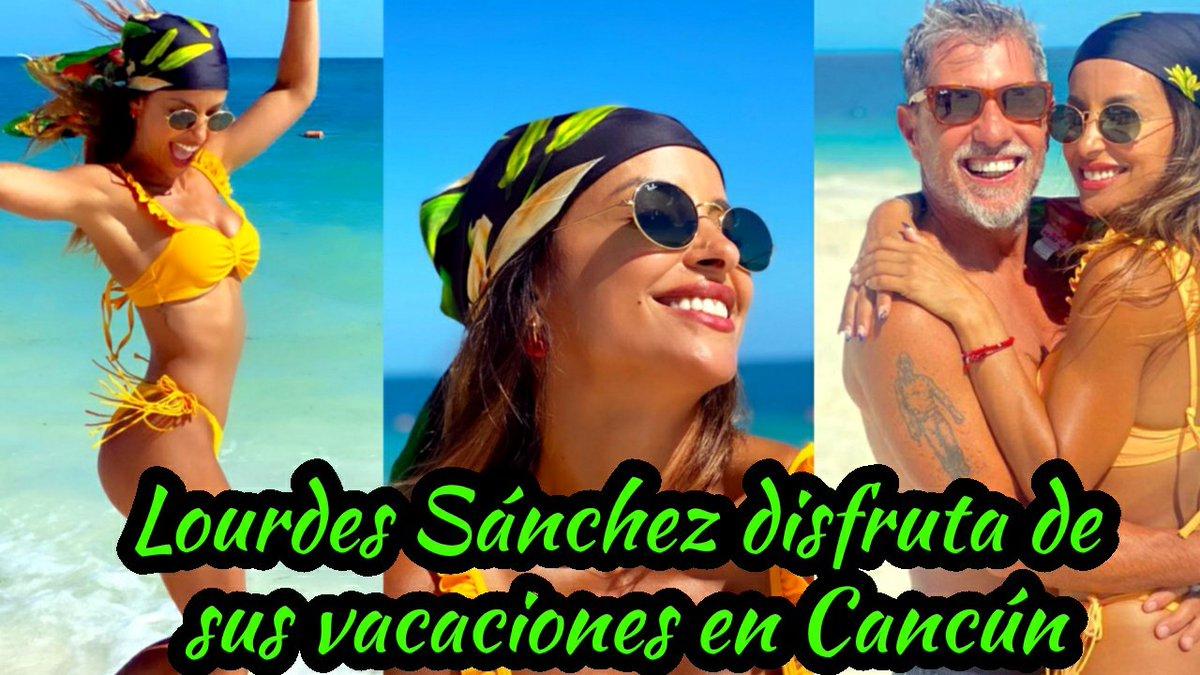 Las espectaculares vacaciones de Lourdes Sánchez y el Chato Prada en Cancún.  Mira el Video👉 https://t.co/k7gDNDD6UU  #LourdesSánchez #Cancún #Chato #espectaculares #vacaciones #playas #caribe #aventuras #FelizDomingo https://t.co/AofYQhnvSj