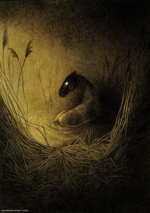 Jana Heidersdorf #fantasyart #gothic #fantastic #creepy #eyes