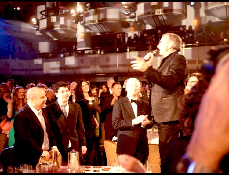 Happy Birthday to Neil Diamond, one of the coolest cats you could ever work for in the music biz. Here he is at his Rock Hall Induction in 2011 at 1am (!) standing on the tables and serenading the crowd.