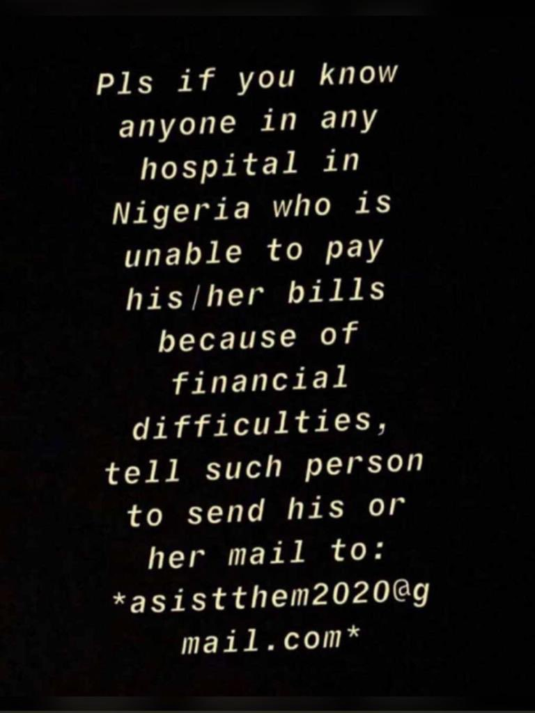 Please anyone know how to contact these people? I saw this screenshot on Twitter but the email is no longer functional and there's a friend who really needs their help. It's a medical emergency   @Gidi_Traffic @aproko_doctor  @davido Adamu #sos