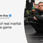 "Image for the Tweet beginning: Nate Diaz believes ""real"" martial"
