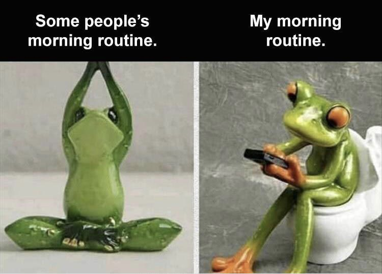 The morning routine.  #morning #routine #wakeup #sleep #meme #memes