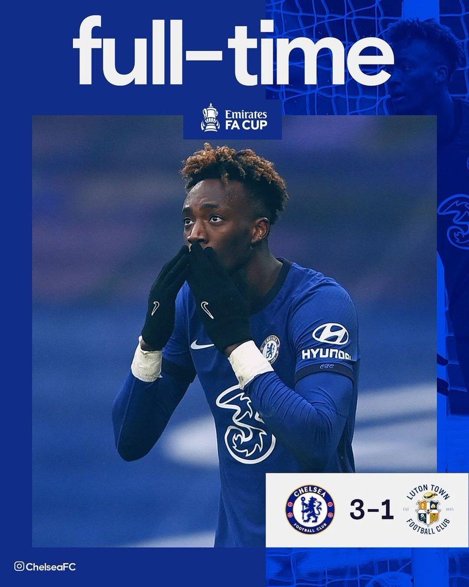 #FACup highlights.    Chelsea 3 - 1Luton #CHELUT   Brentford 1- 3 Leicester #BRELEI   Fulham 0- 3 Burnley #FULBUR   Man Utd 3- 2 Liverpool #MUNLIV