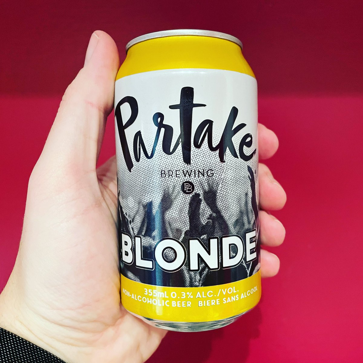 Happy Beer Can Appreciation Day! I'm celebrating with a can of @DrinkPartake Blonde. It's good stuff! #DryJanuary #BeerCanAppreciationDay