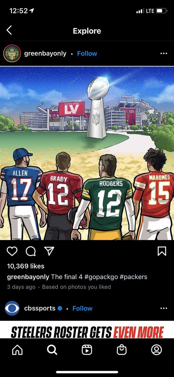 #ChampionshipSunday #NFL #NFLPlayoffs #Mahomes #Brady #Rodgers #allen #Packers #ChiefsKingdom #GoBucs #BillsMafia #GoPackGo #NFCChampionshipGame #AFCChampionship #football #lambeaufield #NFLPlayoffs2021  #FootballTogether #SuperBowl2021 #SuperBowl