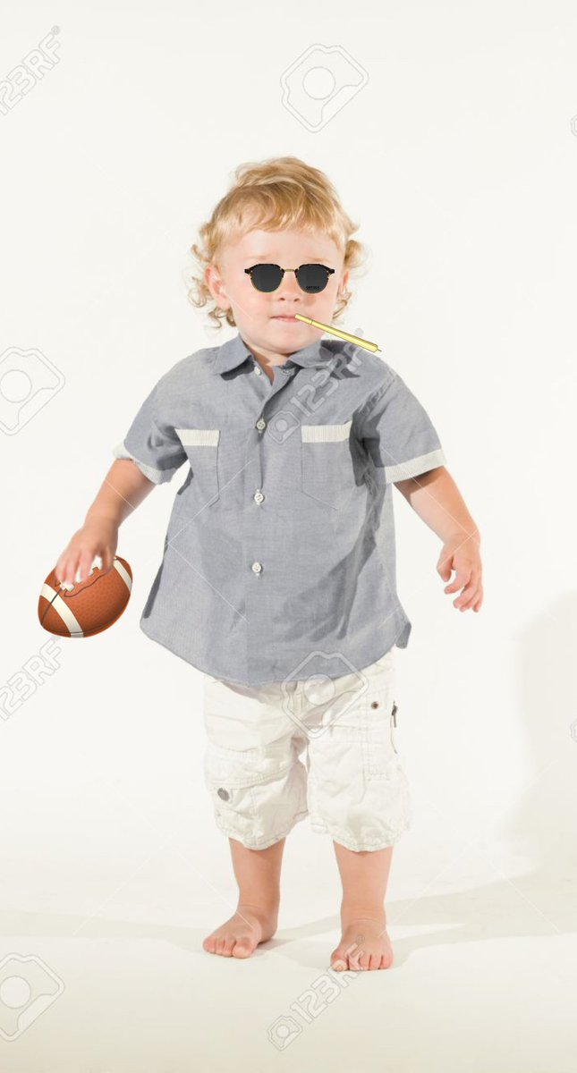 I had my kid do the TB12 method and he came out of his room like this during the game.  Someone help quick #GBvsTB