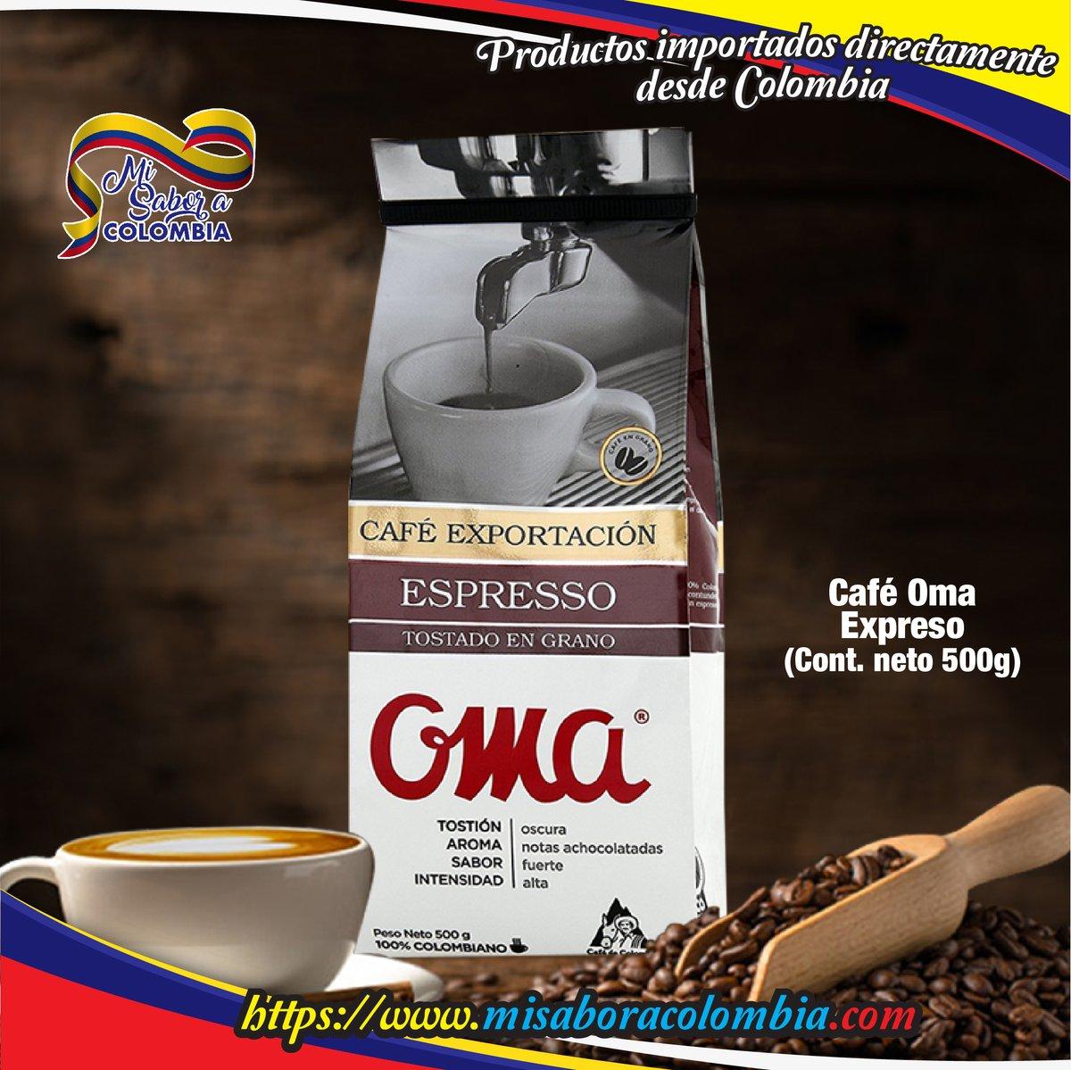 Café Exportación Espresso tostado OMA (500 grs.)  100% Arábica; de molienda fina, aromático, intenso, tostado...  #coffee  Visite en   #misaboracolombia