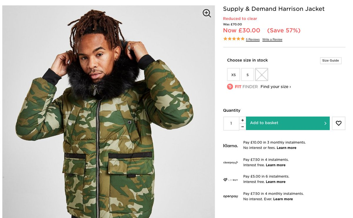 Supply & Demand Jacket  WAS: £70 SALE PRICE: £30 (57% OFF)   Buy here >>  #ad
