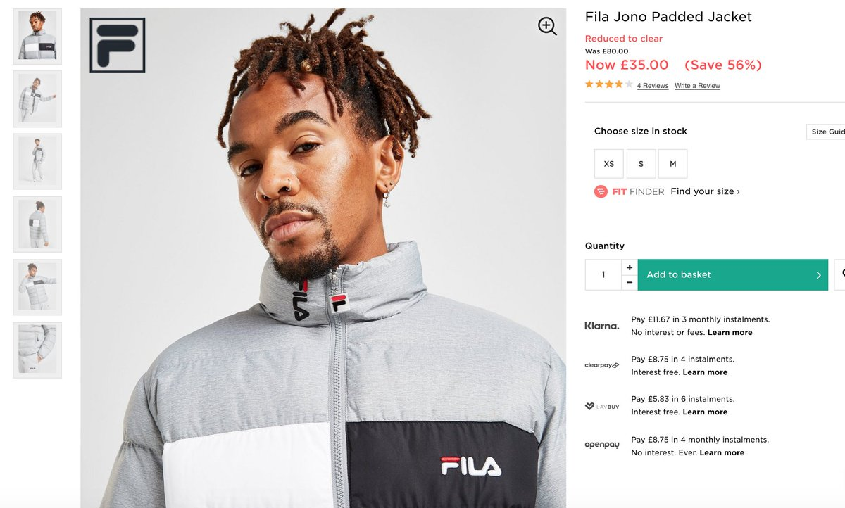 FILA Jacket  WAS: £80 SALE PRICE: £35 (56% OFF)   Buy here >>  #ad