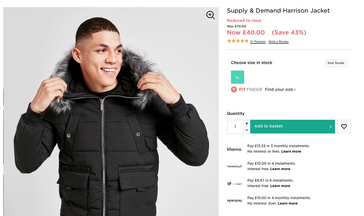 Supply & Demand Jacket  WAS: £70 SALE PRICE: £40 (43% OFF)   Buy here >>  #ad