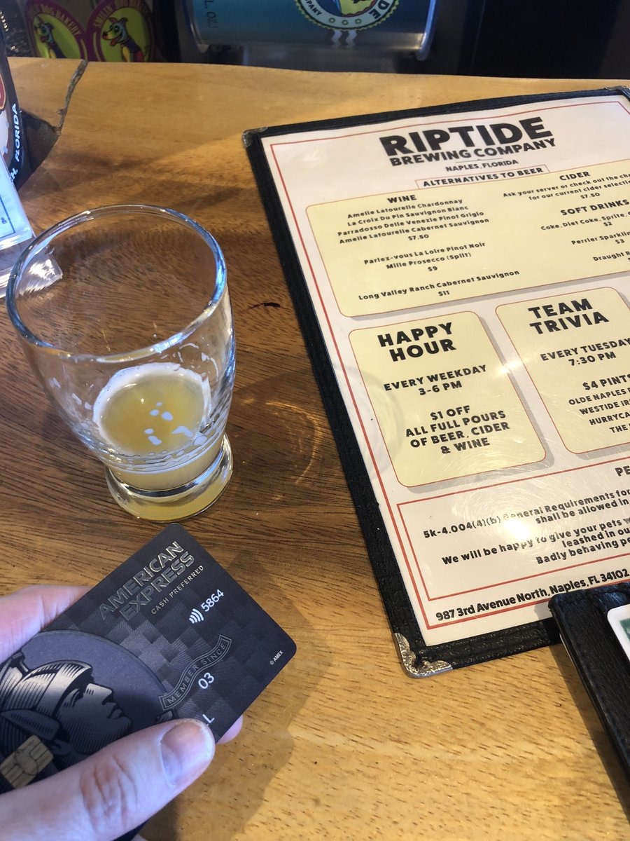 I always choose @AmericanExpress for business and pleasure @riptidebrews #SmallBusinesses #amexbusiness #SmallBusinessSaturday #amexbusiness