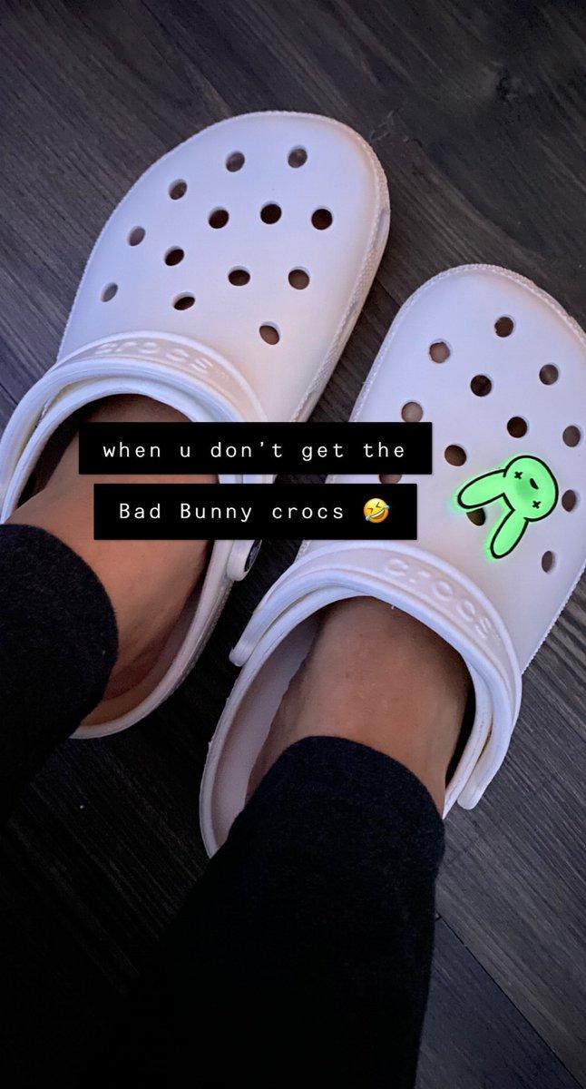 I never thought i'd love crocs so much lol 😝 #crocs #BadBunny #badbunnycrocs #ifyouaintcrocinyouaintrockin