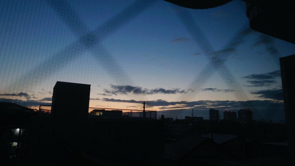 冬らしい色してた今朝の空 #komo_sky #morning #sky