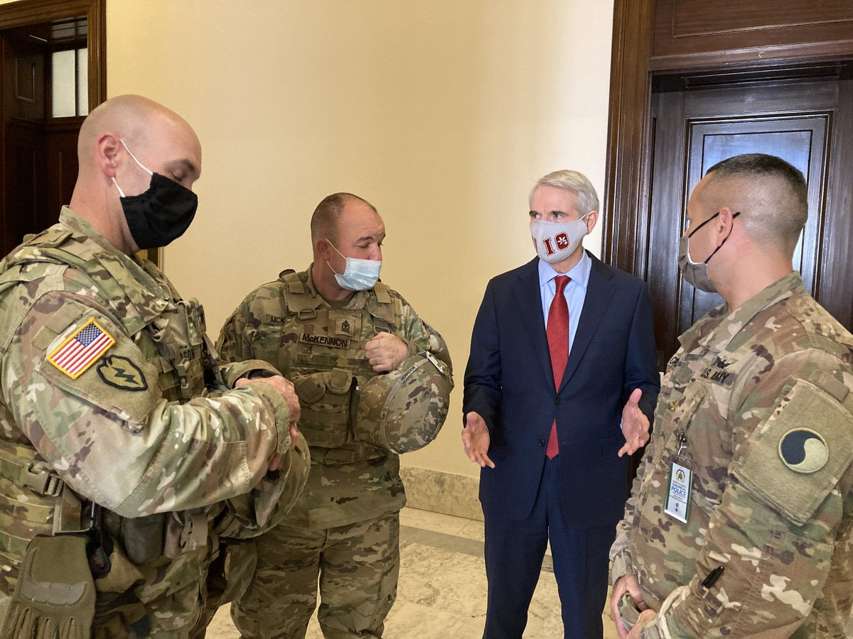 Thank you to the men and women of the Ohio National Guard who answered the call to serve and kept the Presidential Inauguration safe and secure.