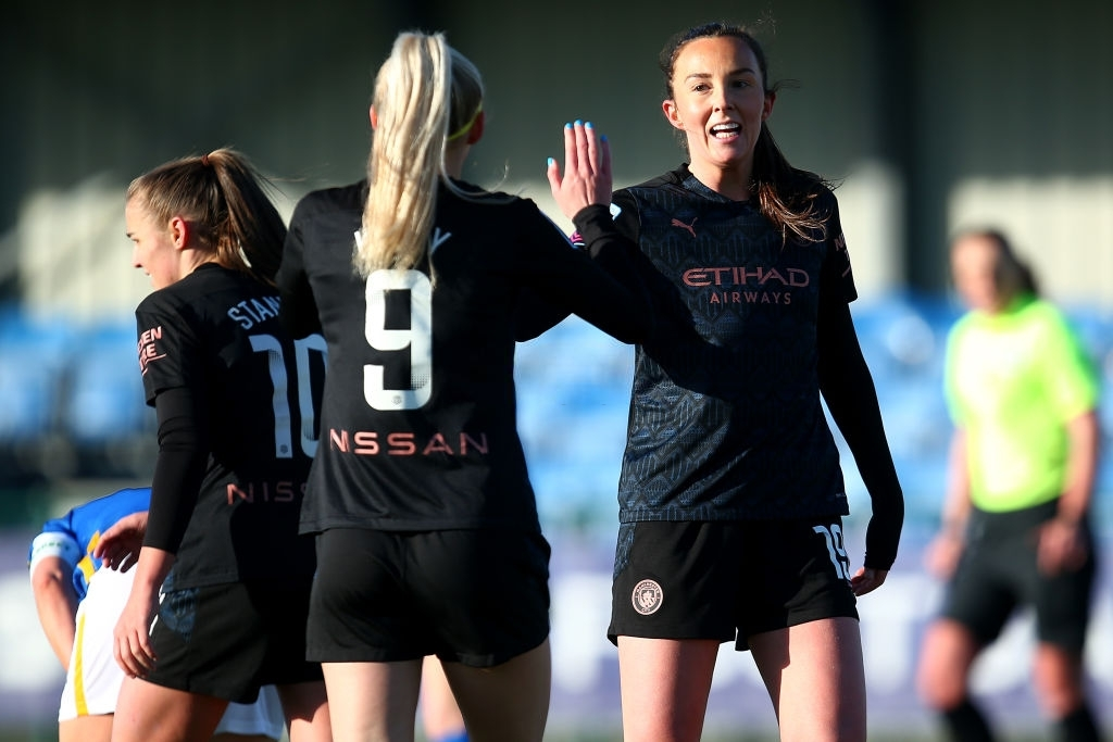 💙 𝑮𝒐𝒐𝒅 𝒎𝒐𝒓𝒏𝒊𝒏𝒈, 𝒃𝒍𝒖𝒆𝒔!  🤩 7 goals to celebrate 7 years  🌟 50th #ManCity appearance for @lauren__hemp 💙 150th #FAWSL appearance for @stephhoughton2 💫 @itscarolineweir back from injury and getting a brace  🔥 @Chloe_Kelly98 in form  #MCFC | @ManCity | #ManCity
