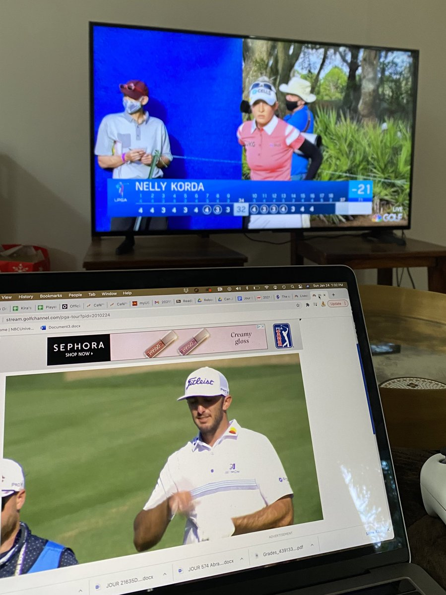 Dual screen viewing alive and well today! Recommend getting to a tv. The lead is tied with 2 to play @diamondresorts 🙌🏼✨