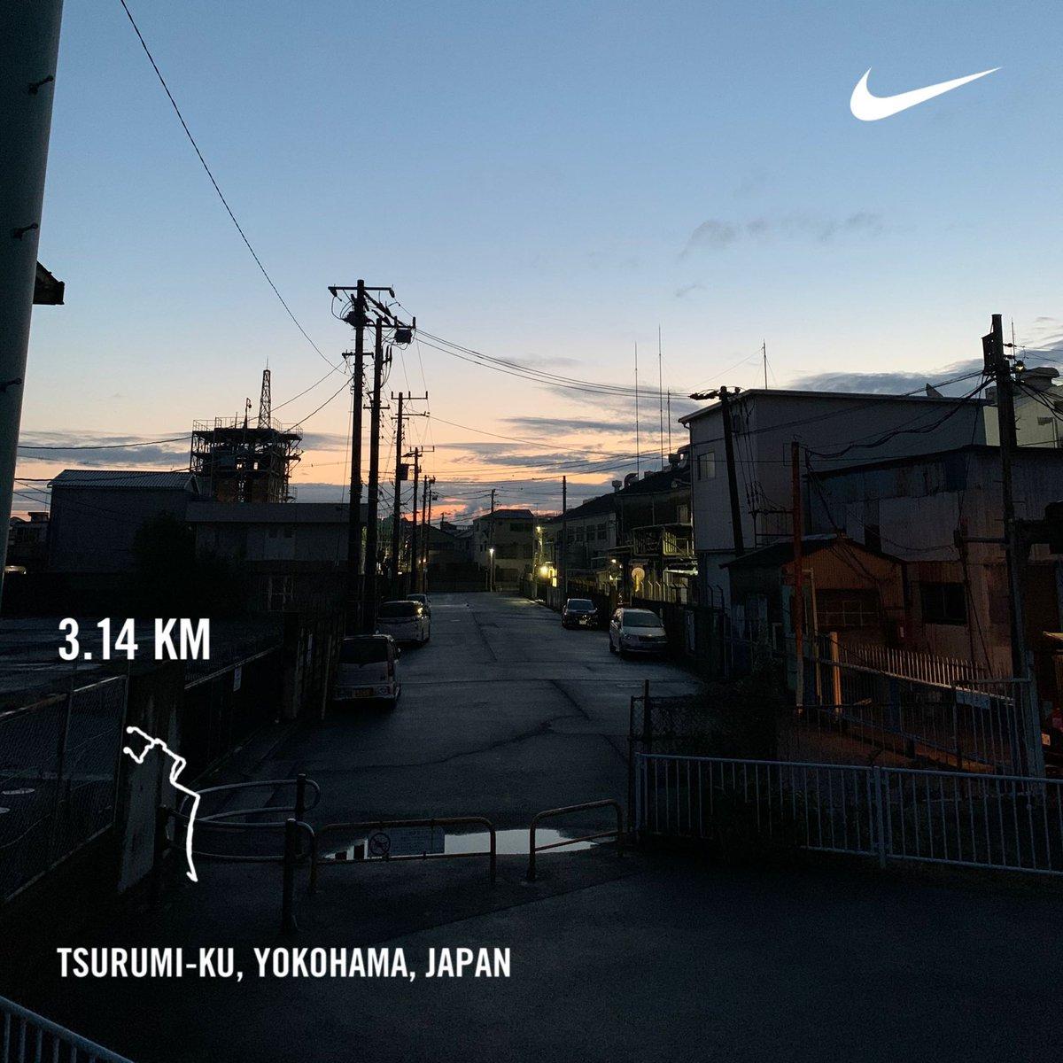 Monday morning run  #nikerunclub #nikerunning #run #running #jogging #nikeplus #tsurumi #yokohama #japan #morning #morningrun #🏃♂️