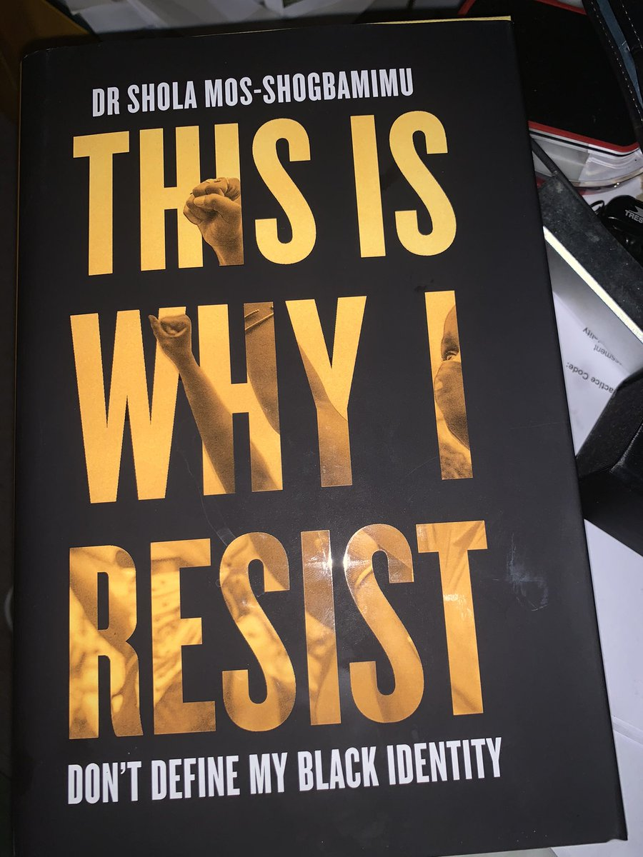Yay my pre-order book arrived: #ThisIsWhyIResist is a book I'm reading with pen in hand , literally resisting the temptation to underline every line so far. A bold rallying cry; we have so much work to do. #BlackLivesMatter   A book written in 2020 by  Dr @SholaMos1 Thank you 🙏🏽
