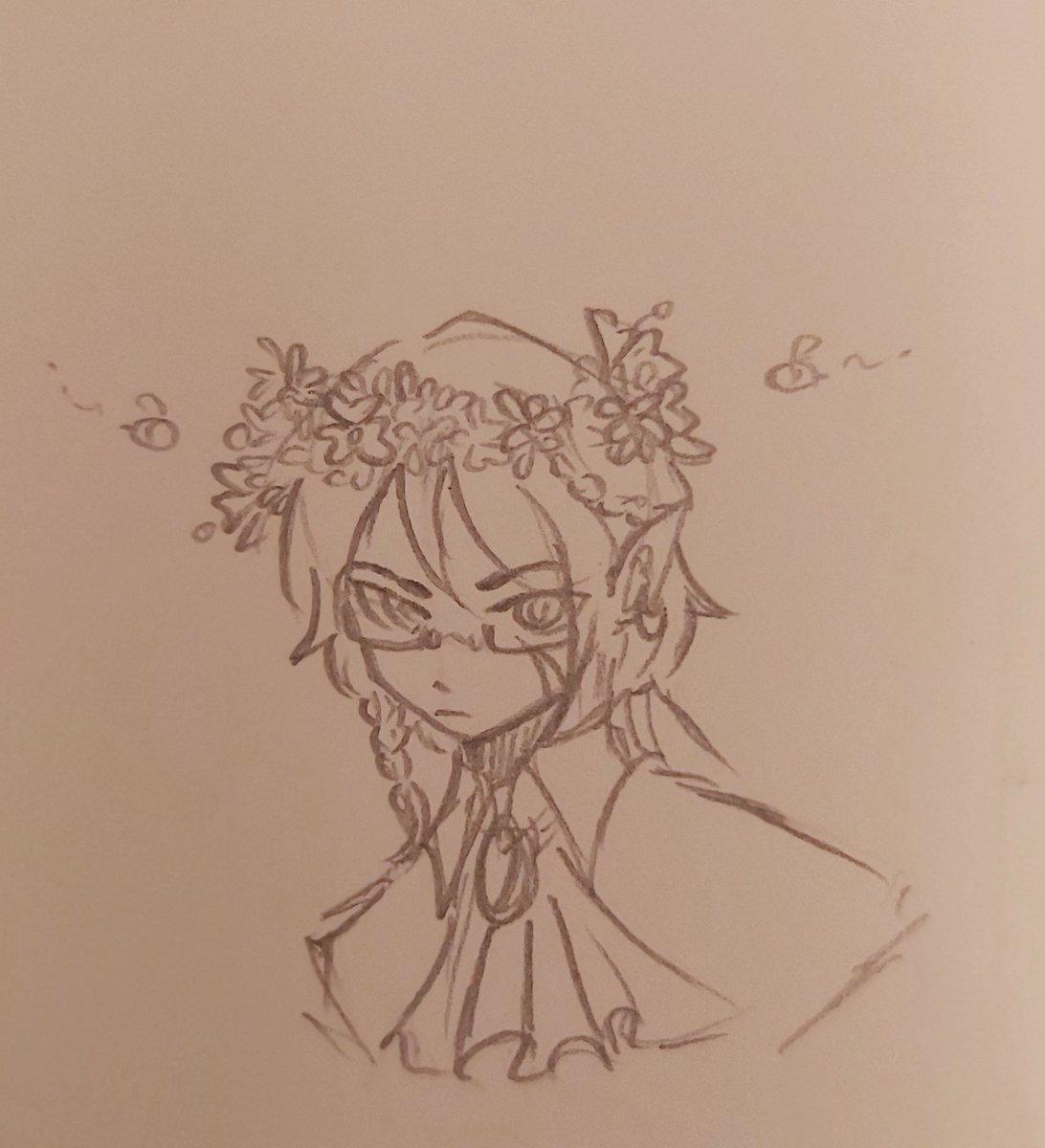 Flower crown  #technofanart