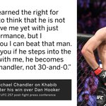 Image for the Tweet beginning: Michael Chandler believes he could