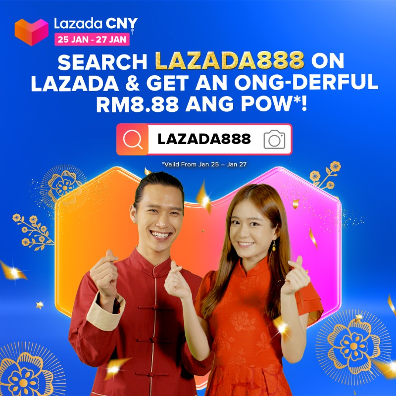 Search LAZADA888 Lazada App and redeem your BIG 8.88 Huat-derful Ang Pow to spend on Lazada CNY sales TODAY till 27 Jan! Wait no more, collect it NOW!!! :D   #LazadaAdaOng #LazadaCNY21 #LazadaAdaSemua https://t.co/iIPIyh3QWd