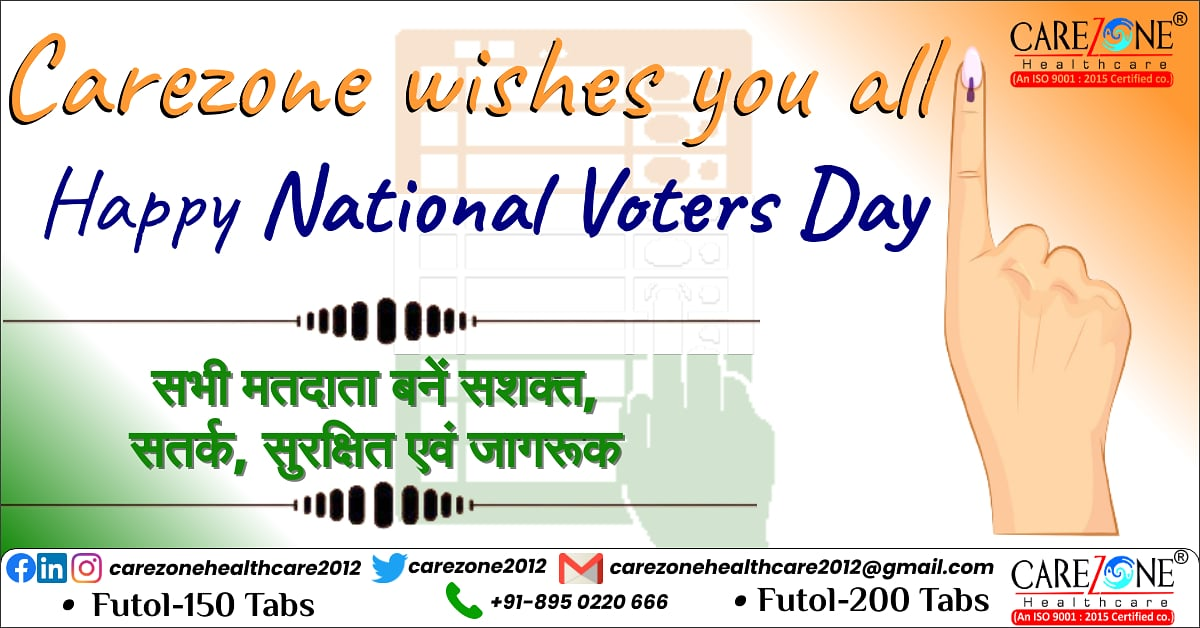 Carezone wishes you all Happy National Voters Day  #voting #vote #election #elections #politics #votingmatters #democracy #votingrights #electionday #govote #covid #voterregistration #ivoted #government #voter #votevotevote #votingday #carezonehealthcare2012