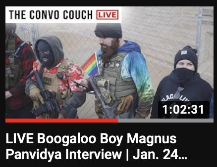 """#Boogaloo Boy Magnus Panvidya Interview | Jan. 24, 2020""     |   @ConvoCouch"