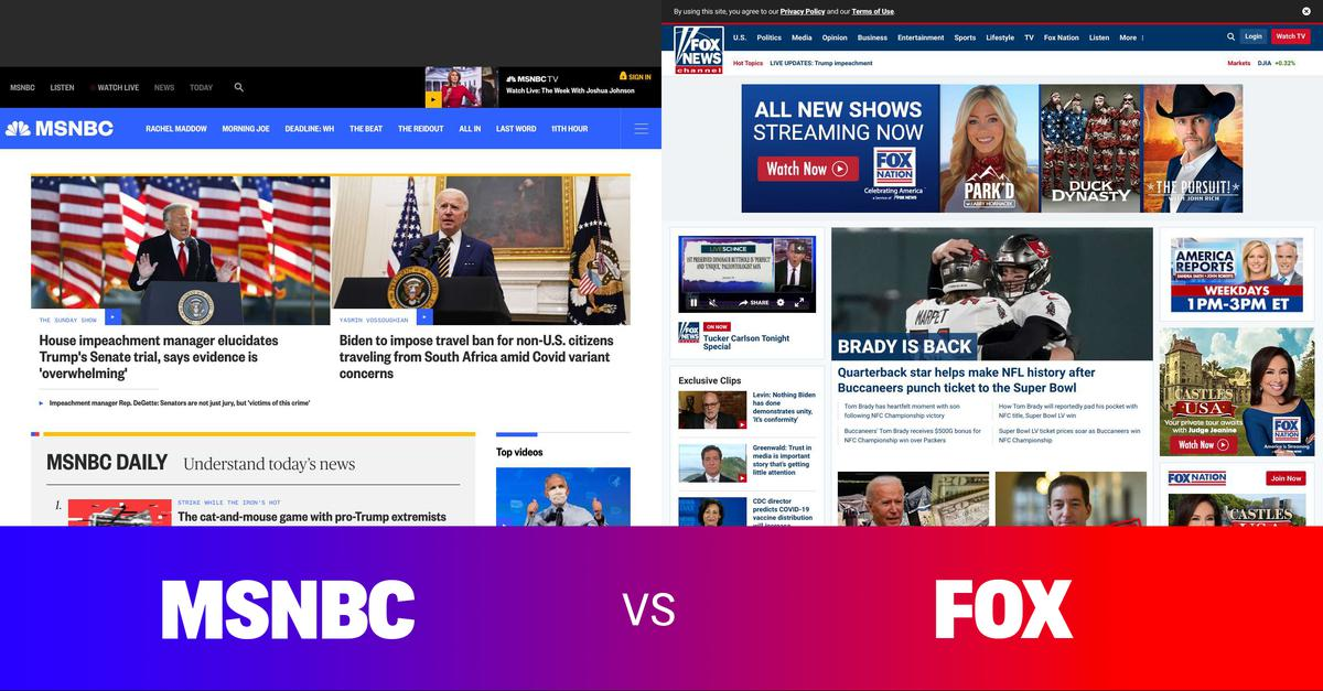 Side by side comparison of the news. Comment on overt bias or under-reporting. Share to support an informed democracy. #news #politics #media #msnbc #cnn #fox - More at: https://t.co/OCTLN0v95U https://t.co/nFdeuGsMRM