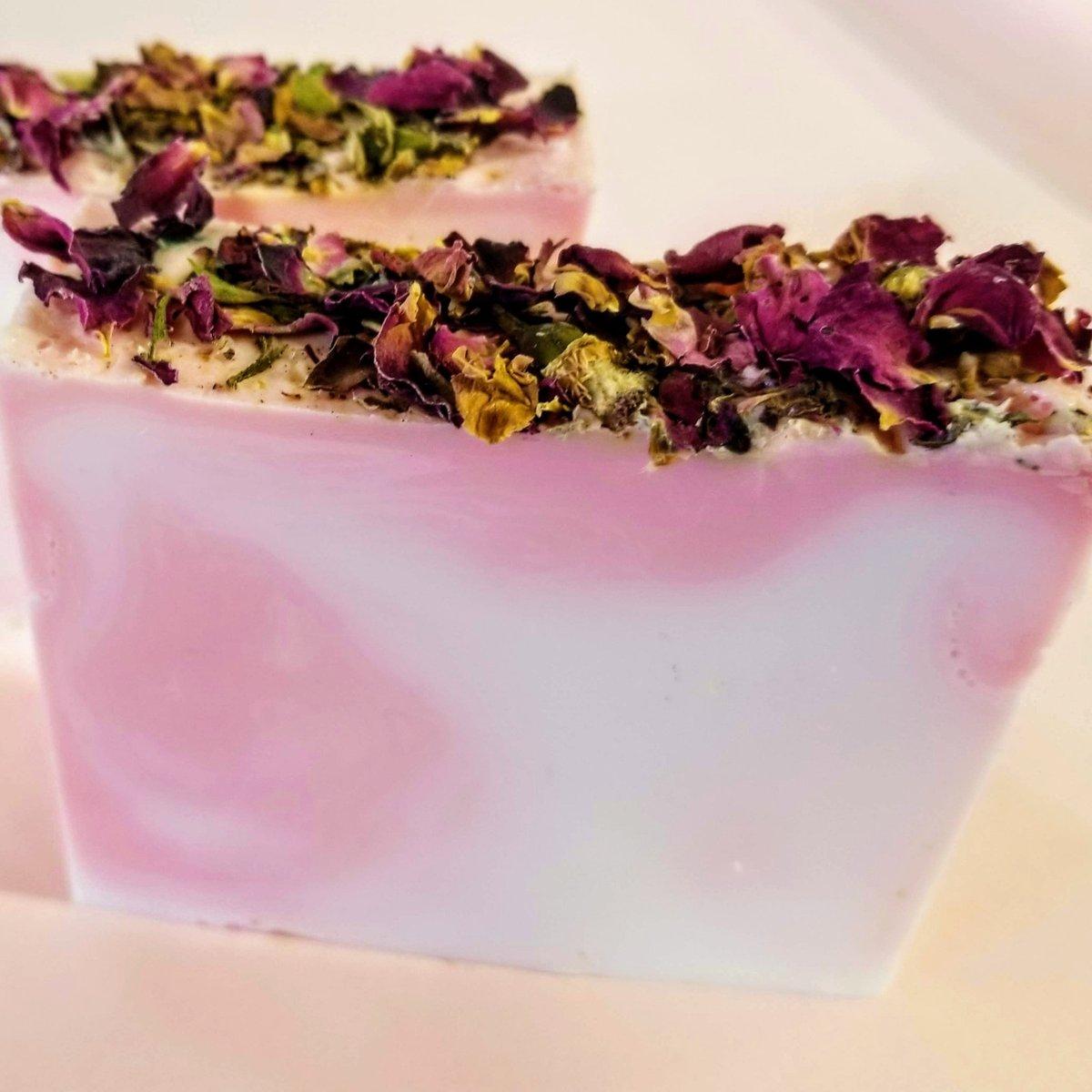 Rose Soap, Rose Petal Soap,Vegan Soap, Natural Soap, Glycerin Soap, Soap Bar, Soap Gift, Christmas Gift, Flower Soap, Soap Favors, Soap Sale  #Etsy #NaturalSoap #Soap #Handmade #DeShawnMarie #ColdProcess #Gifts #PinkSoap