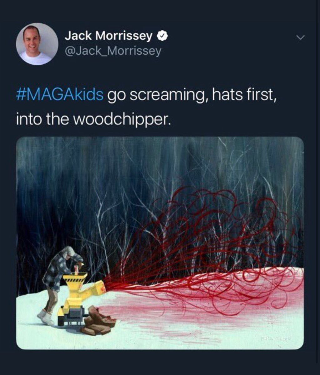 """Jack is a producer for Disney, openly advocating to put conservative kids in a woodchipper  I don't care who you are or who you voted for, we all should be condemning this rhetoric and behavior  This is not what """"unity"""" looks like"""