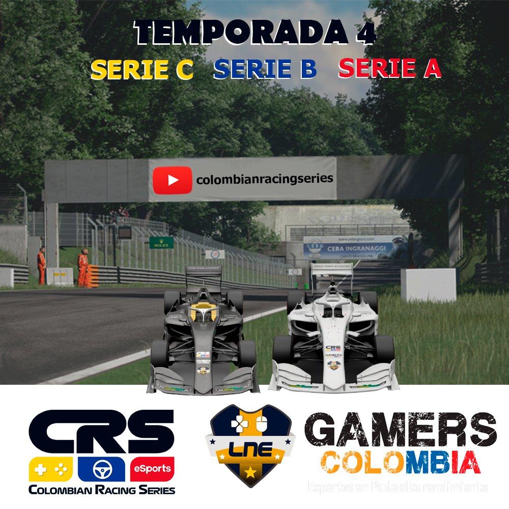 Damos inicio a la Temporada 4 de CRS con la Serie C a las 6:30 pm, la Serie B a las 7:30 pm y la Serie C a las 9 pm. Sigan el en vivo en el canal de Youtube: colombianracingseries #Simracing #CRS #ColombianRacingSeries #GranTurismoSport #Esports #Racing