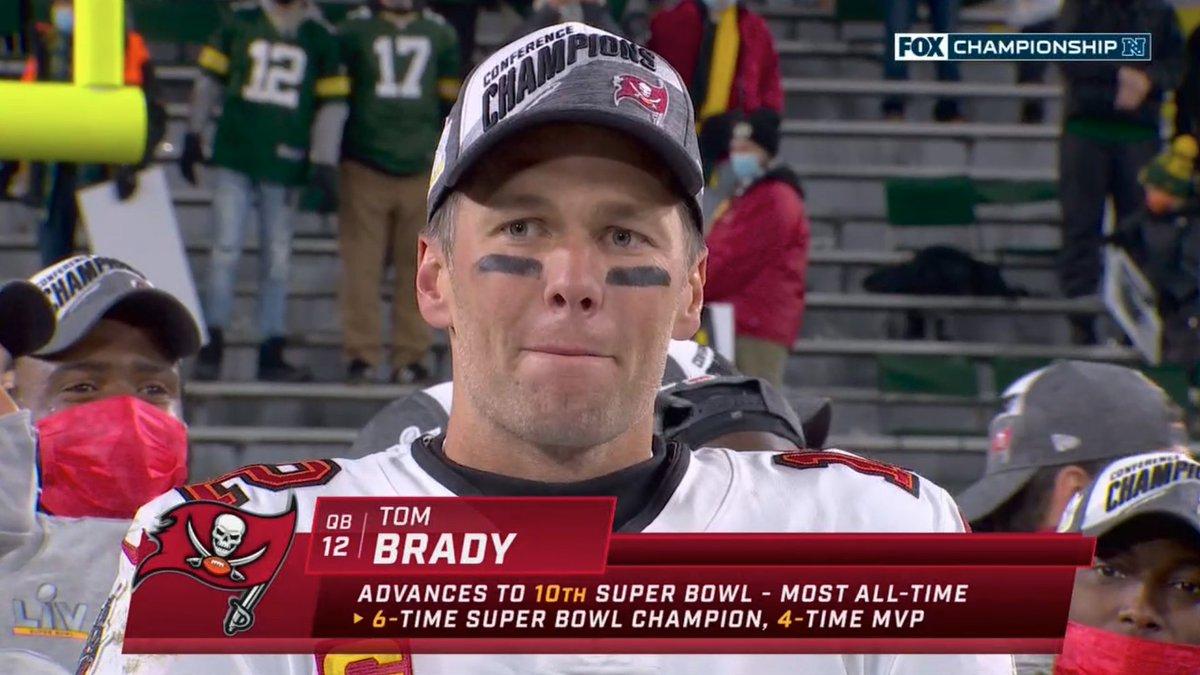 Unreal.   10 Super Bowl appearances 🐐 https://t.co/yuXMdMH0Ry