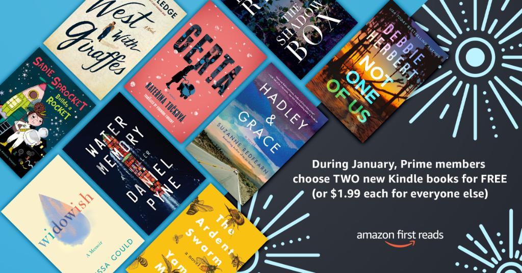 Love free books? Are you a Prime member? Well, Amazon First Reads (@amazonpub) has you covered. Check out the books we recommend and start reading right now: