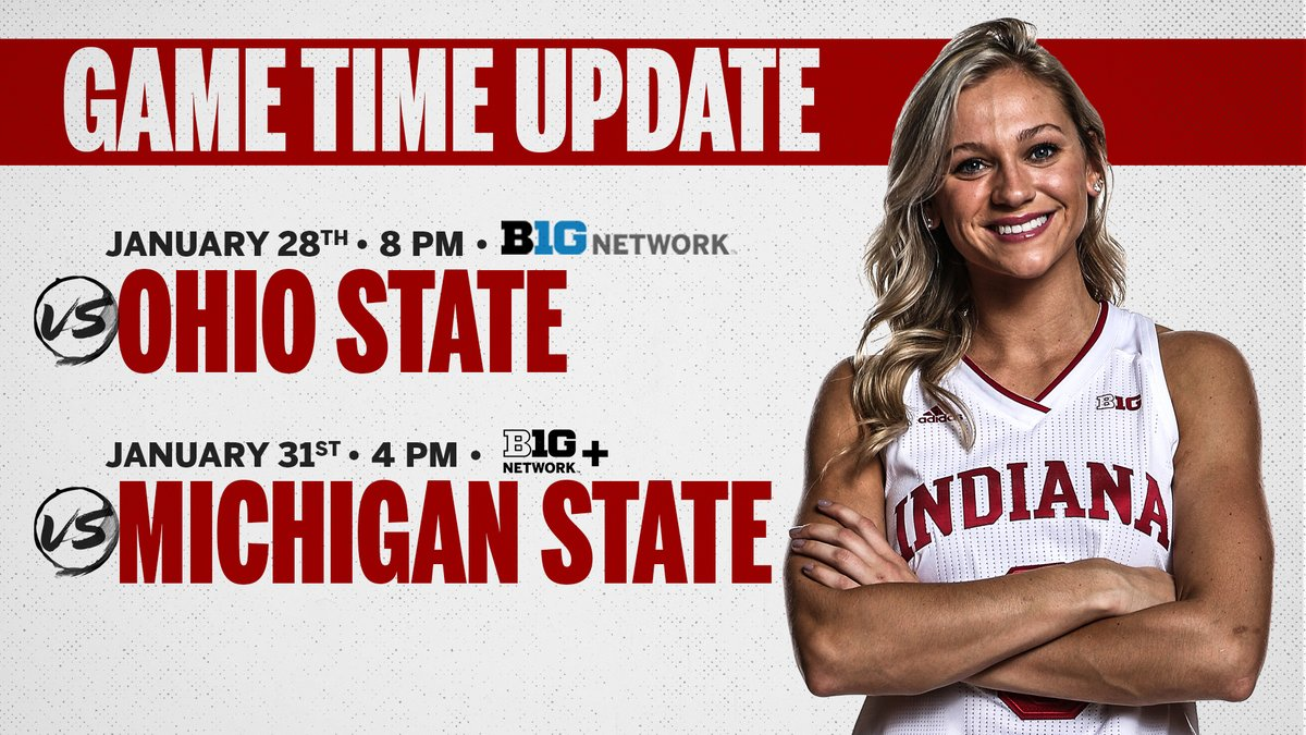 Replying to @IndianaWBB: Next week's #iuwbb schedule has been updated ⤵️