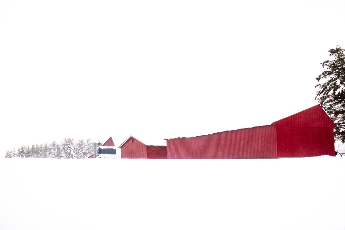 after Ruscha  #VT #Vermont #NewEngland #Ruscha #snow #Winter #January #SkyScape #Barn #Farm #Rural #cold #white #moment #pause #RuralLiving