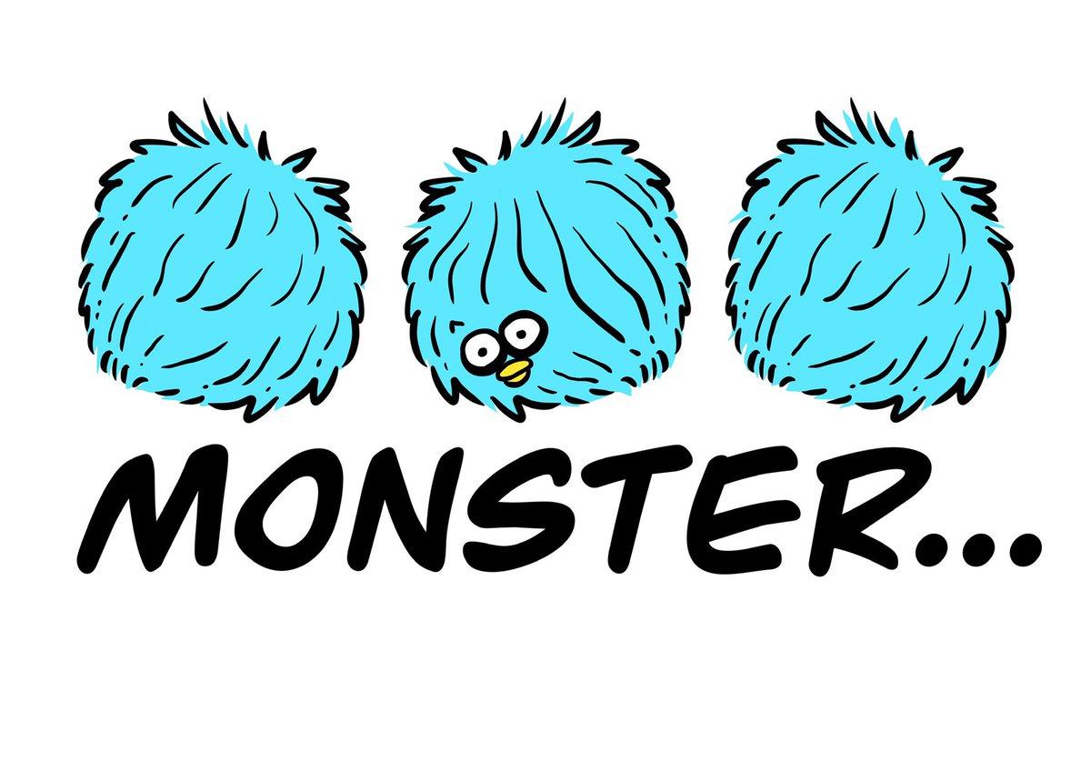 SPENDER キャラ。  モンスターにも幼少期、あったのだよ。  #monster  #spender  #illustrator #まぁるい生き物  #創作  #デザイン #おちょぼ口