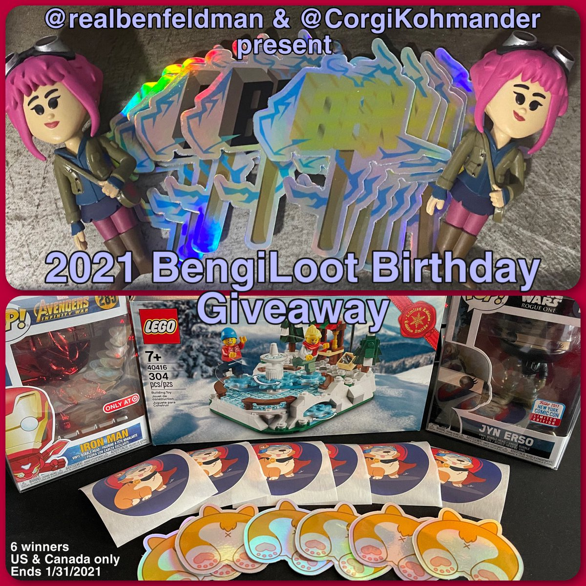 To celebrate our birthdays along w/ the other awesome January babies, Ben & I are doing a joint #giveaway.  Like/RT/follow @realbenfeldman & I and answer using the hashtag #BenGiLoot what is your favorite birthday memory?  6 winners chosen 1/31. US and Canada shipping only.
