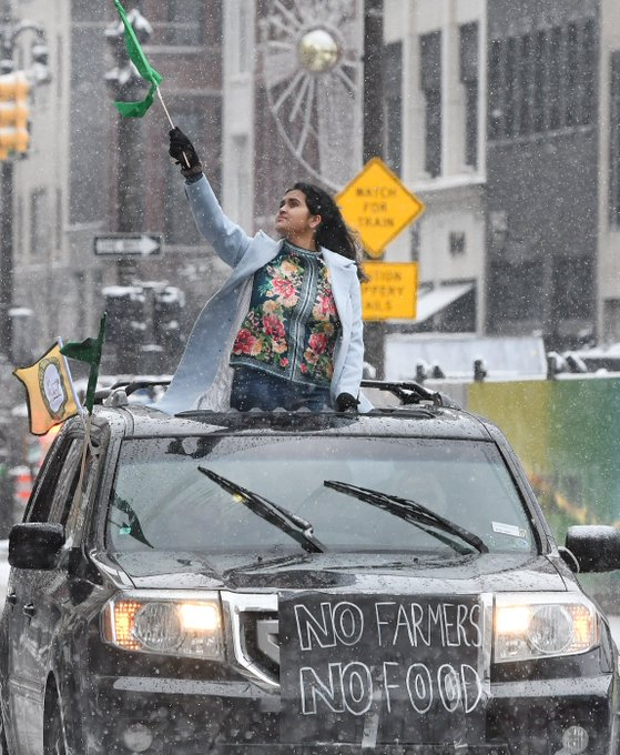 Hundreds join Detroit car rally to show solidarity with farmers in India Photo