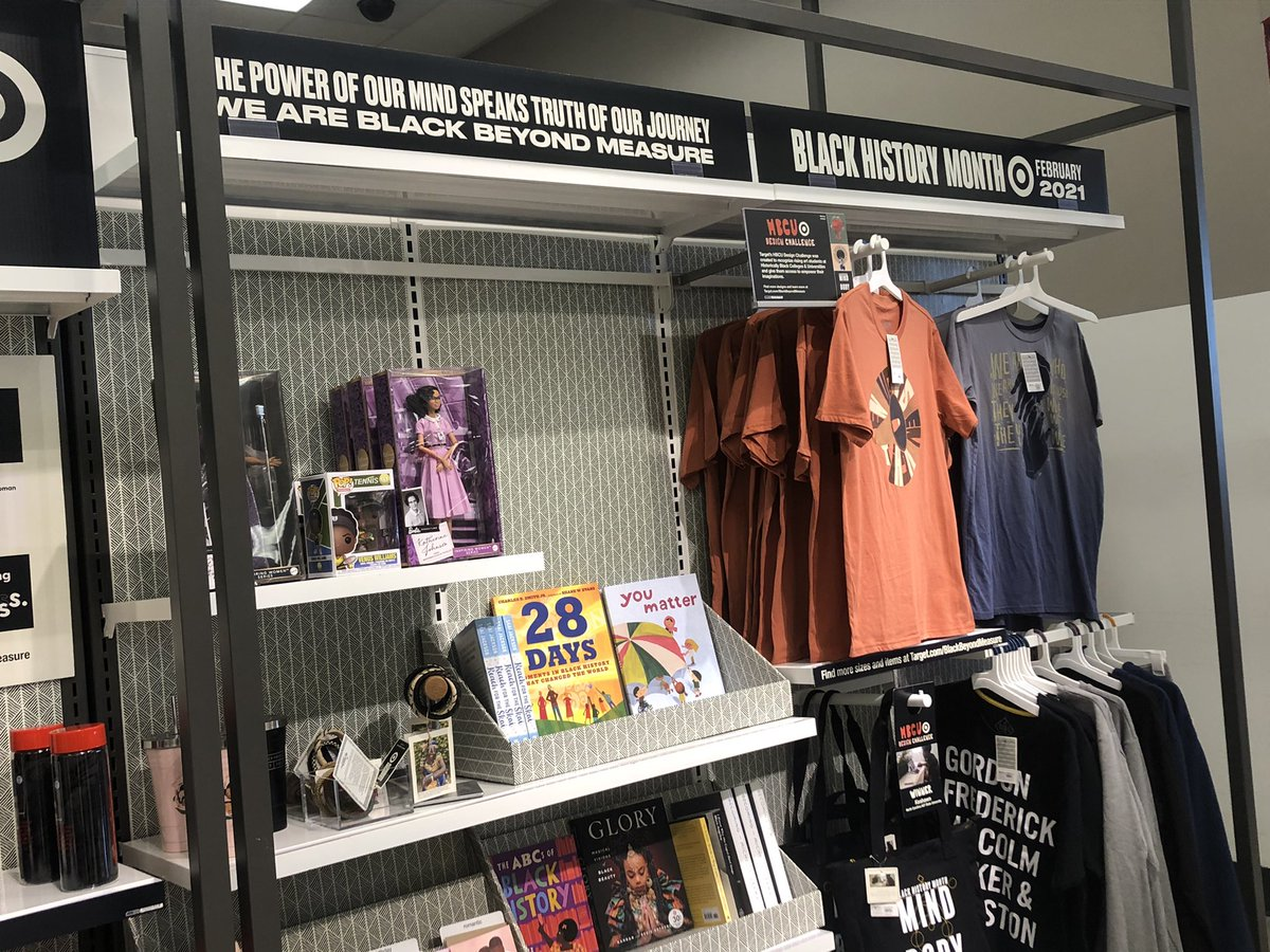 Shout out @Target and their amazing #BlackHistoryMonth display including amazing books, cute clothes and other gift ideas. #BLM