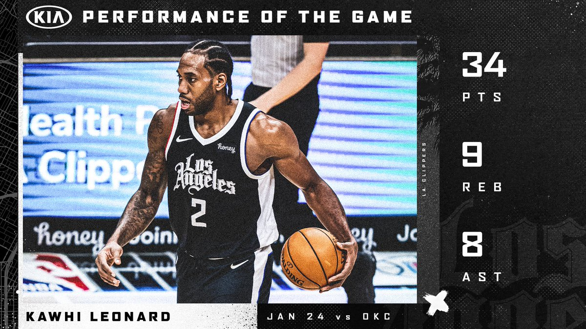 Leadin' the way.  @kawhileonard earns our @Kia Performance of the Game. https://t.co/2wASp7XM71