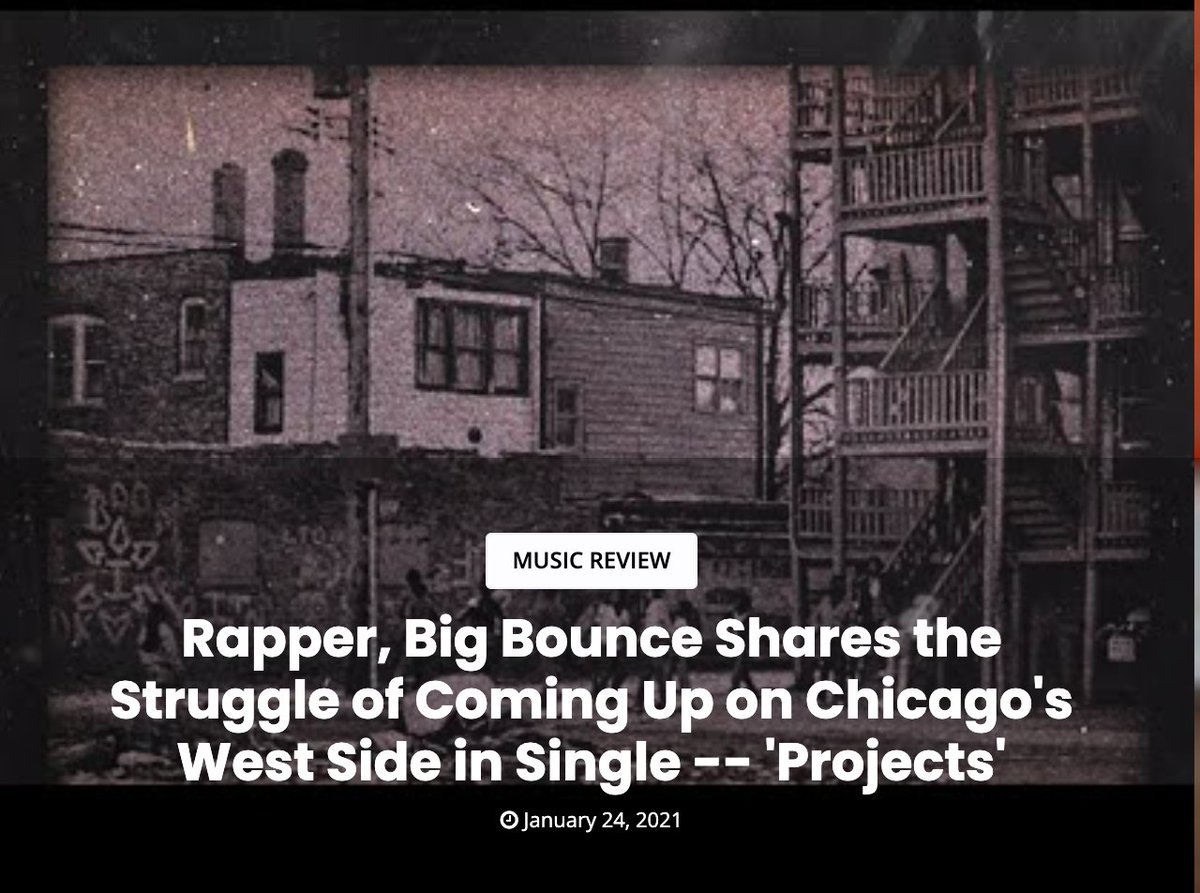 Rapper, Big Bounce Shares the Struggle of Coming Up on Chicago's West Side in Single -- 'Projects'  #ChicagoScanner #trapbeats #hiphop #rap #weeklybeat