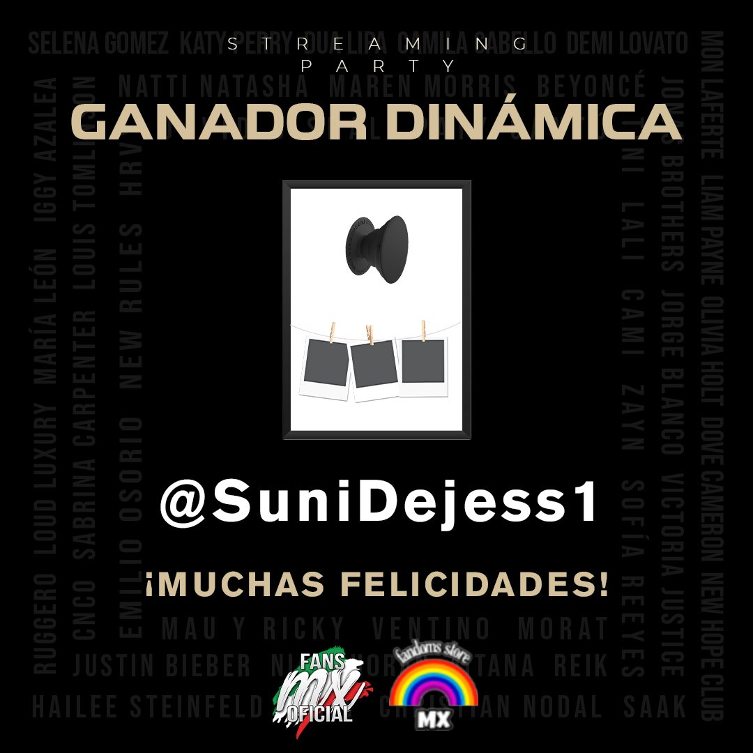 ¡Muchas felicidades @SuniDejess1! 🎁  Fuiste la ganadora la dinámica de #FandomsMexicanos 🇲🇽✨  Para reclamar tus premios personalizados, mándale mensaje a @fandomsstore_mx (Twitter o Instagram) ❤️  ¡Gracias a todos por participar!
