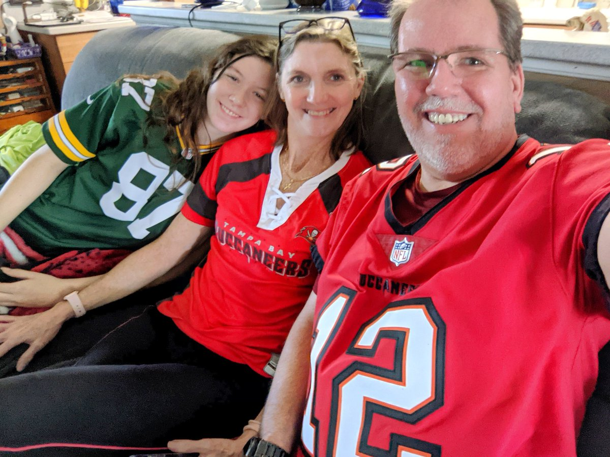2 out 3 people in the picture are very happy right now. #TBvsGB #NFCChampionship #GoBucs