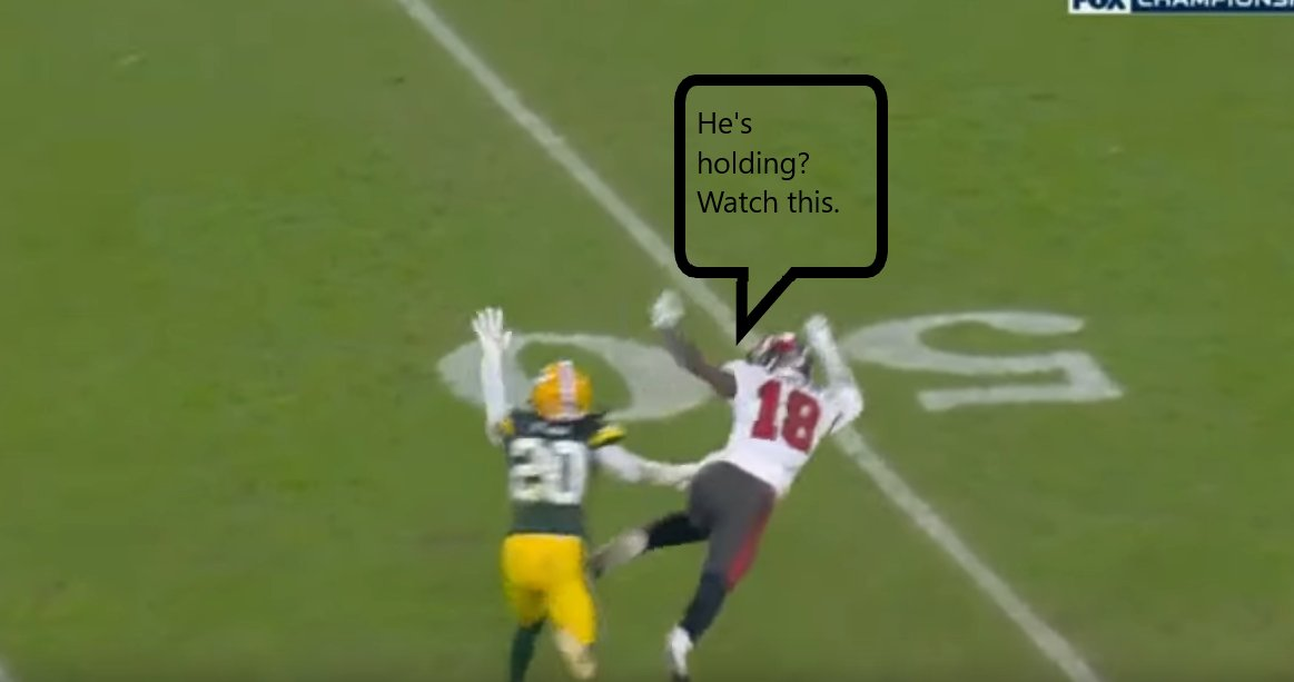The only PI all game was a crucial one. #NFCChampionship #NFL #TBvsGB   Youtube: