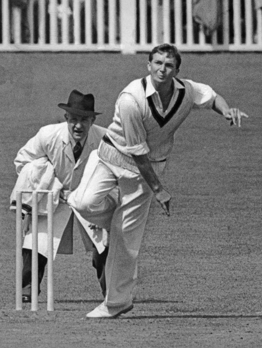 #OnThisDay in 1952, the great Richie Benaud made his Test debut for Australia, taking a wicket in a win against West Indies at the SCG.  On the field or in the commentary box, Benaud would go on to become an icon of the game. A legend missed by all ❤️