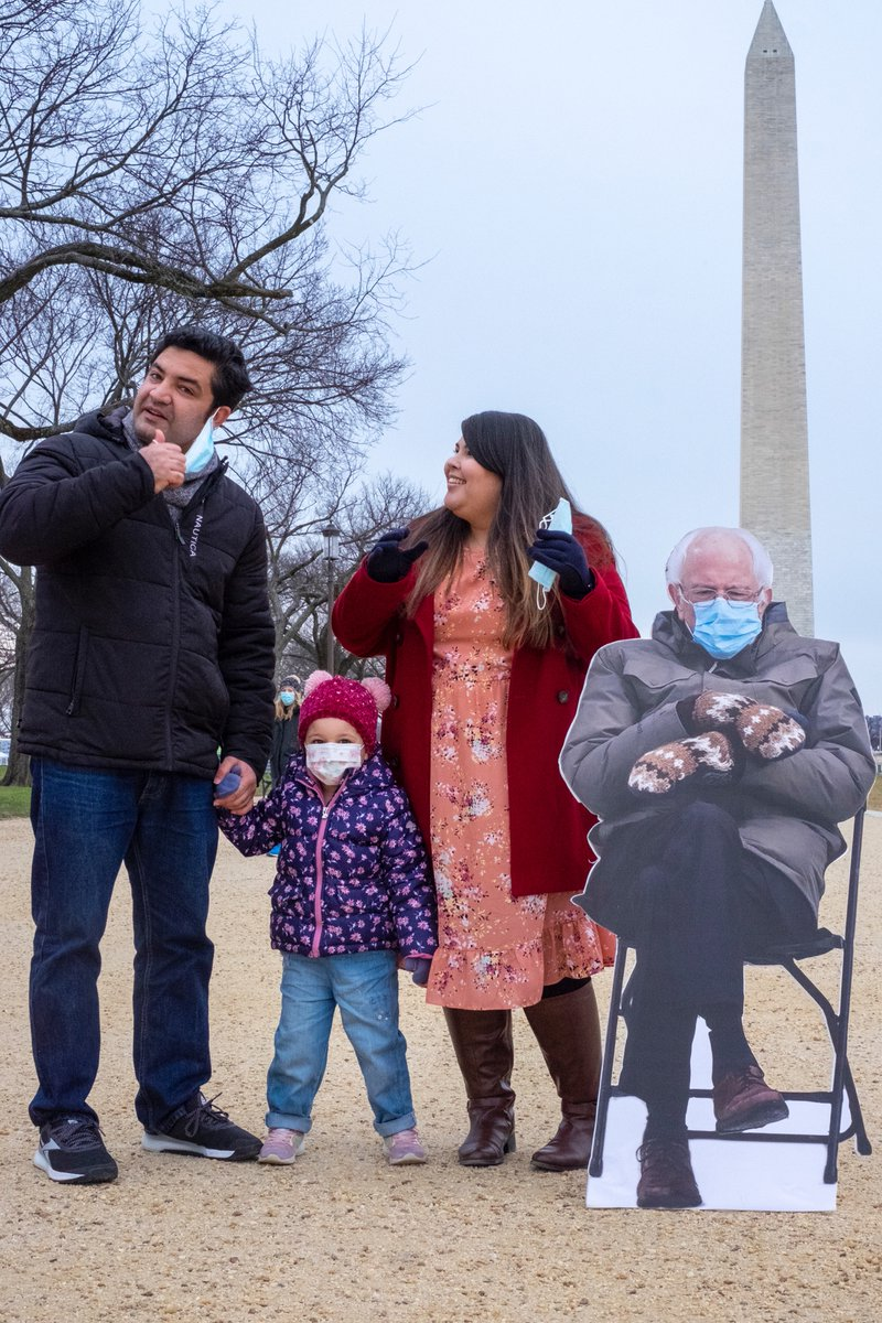 I printed out a life-size cardboard cutout of @BernieSanders and we took him all over DC. I haven't experienced that much joy in forever. Thanks, fellow humans! Life is beautiful. #bernie #berniememe #berniecutout