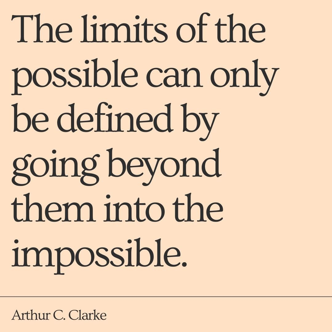 A MOTIVATIONAL thought for the coming week! Lets all strive for the impossible!  #arthurcclark #writingcommunity #amwriting #amreviewing #mcbridechronicles #providence #motivationalquotes #nevergiveup #nevergivein #dreamscometrue #followback #readers