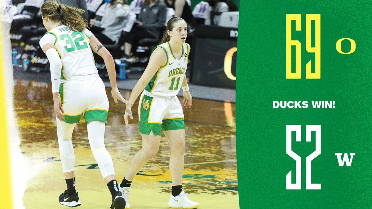 Season sweep of the Washington schools! #GoDucks