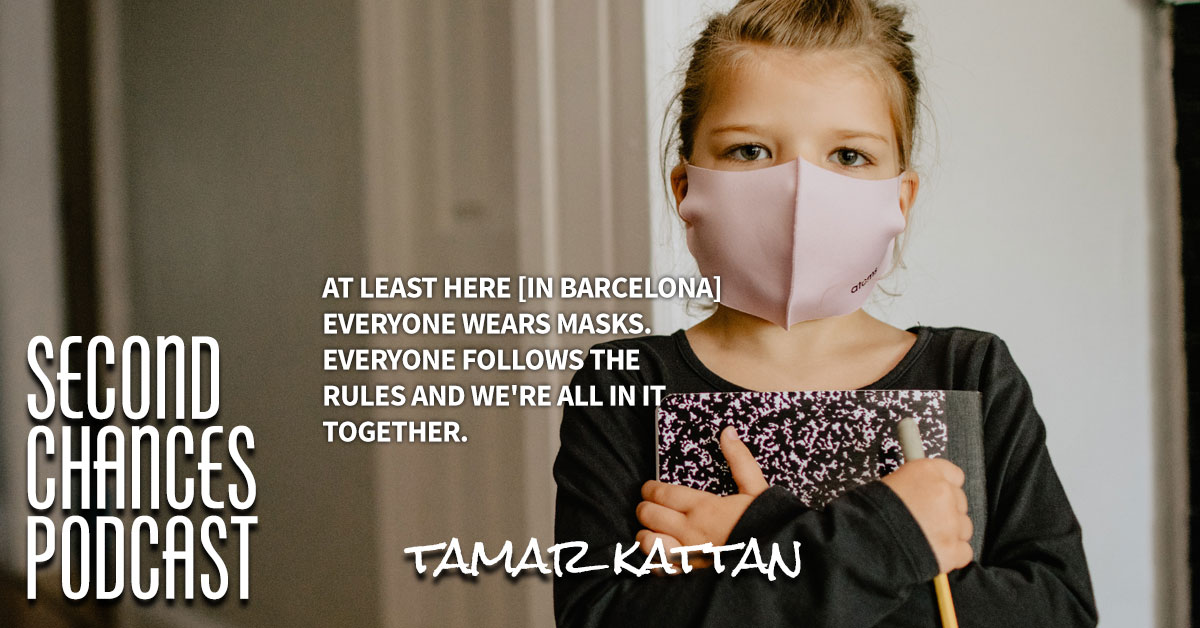 """""""At least here [in Barcelona] everyone wears masks. Everyone follows the rules and we're all in it together."""" Tamer Kattan speaks with podcast hosts Greg and Jimmy about the pandemic.   #comedian #secondchance #love @iamjimmyshin @realgregbaldwin @tamerkat"""