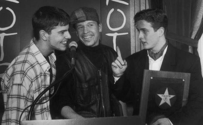"""January 24th-In 1994, @NKOTB received a star on the Boston Tower Records' """"Walk of Fame"""" and had a reception and press conference at @Sonsie_Boston. #OnThisDay  (Thanks, @JenniferPaige34!)"""